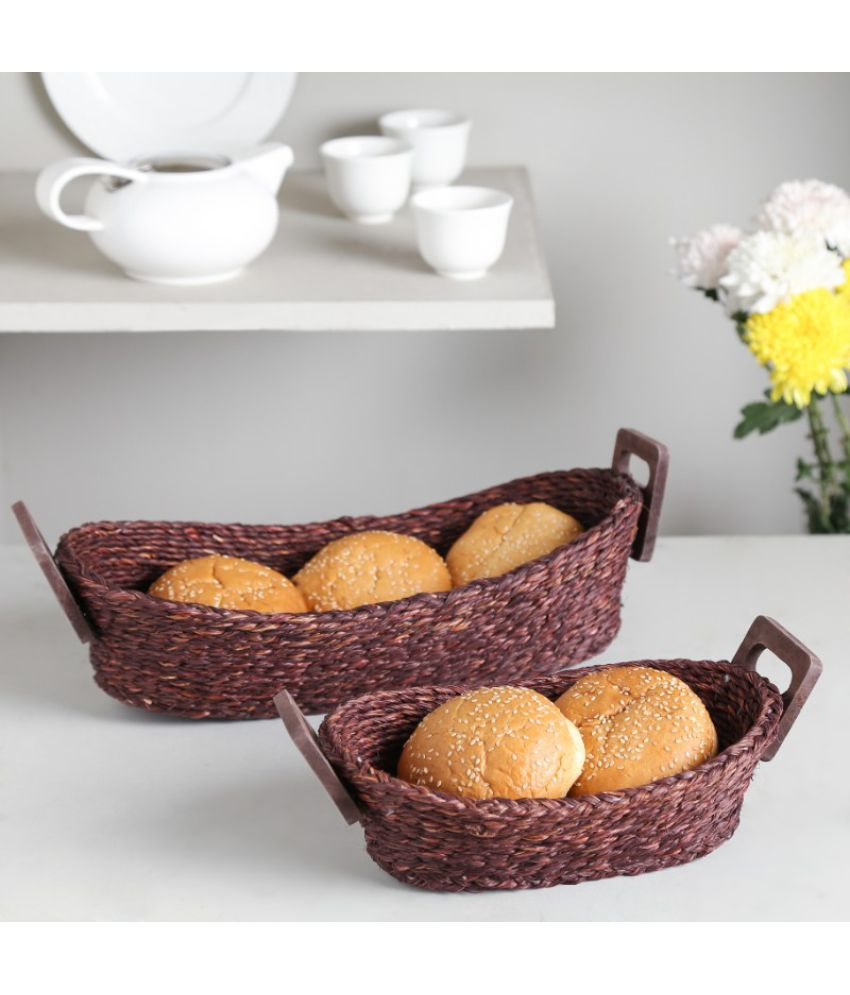 Unravel India Wooden Bread Box Set of 2