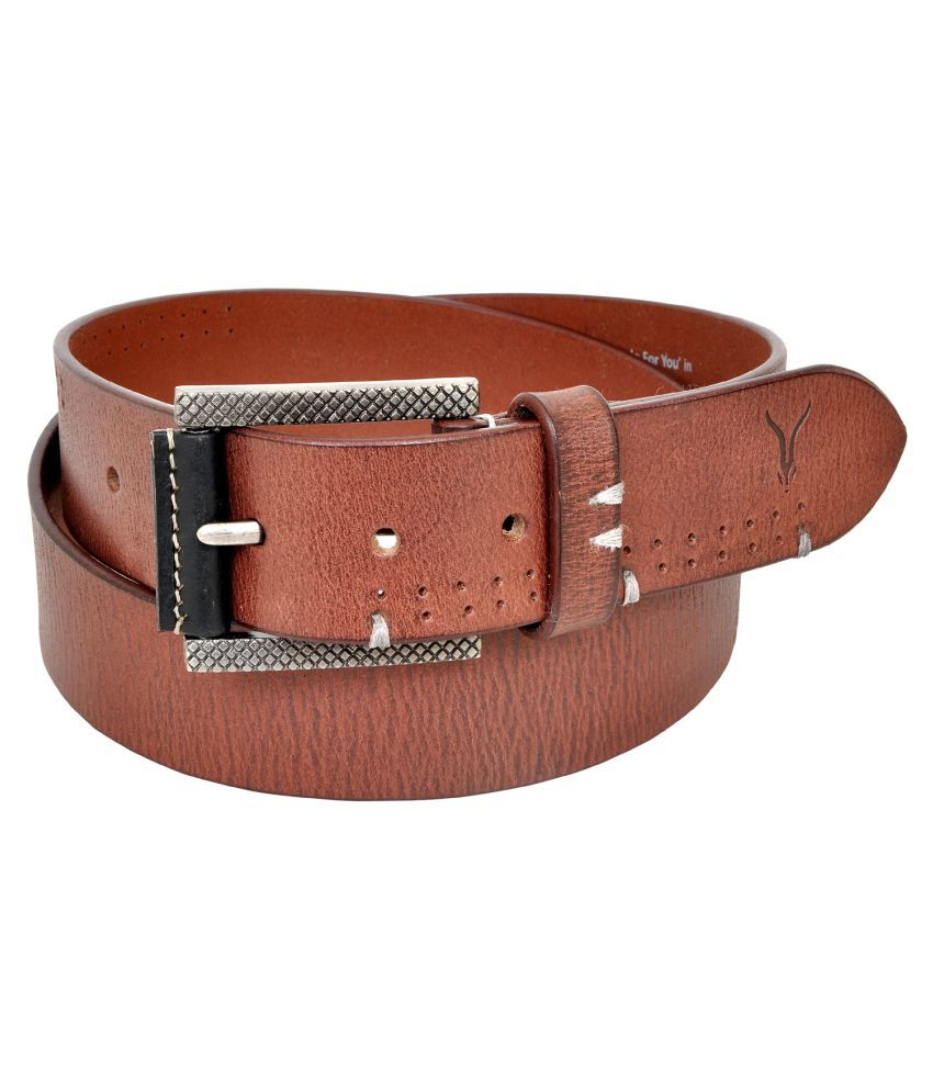 Virtuoso Brown Leather Casual Belts