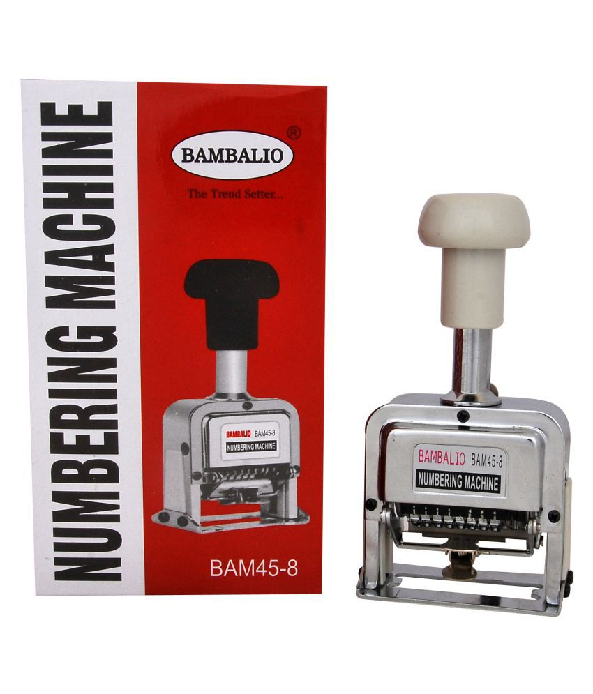 Bambalio BAM45 8 Digit Numbering Machine