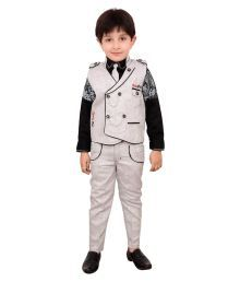 Arshia Fashions Boys Shirt,waistcoat And Pant Set