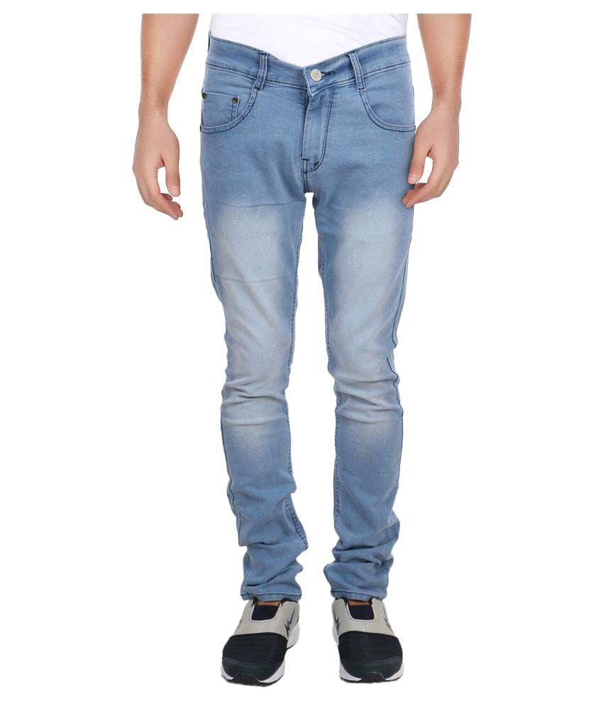 Aarzustyle Light Blue Slim Jeans