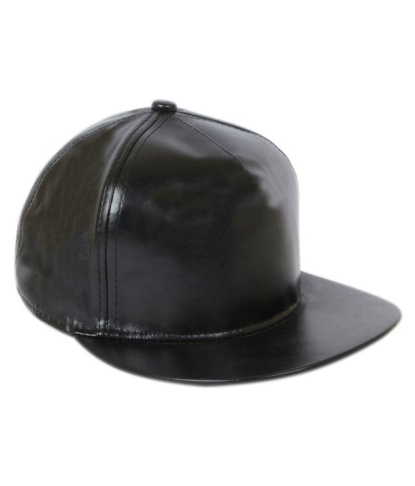 ILU Black Plain Fabric Caps
