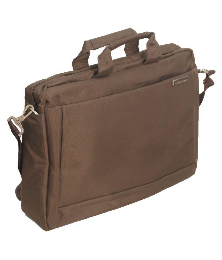 M Brown Nylon Office Bag