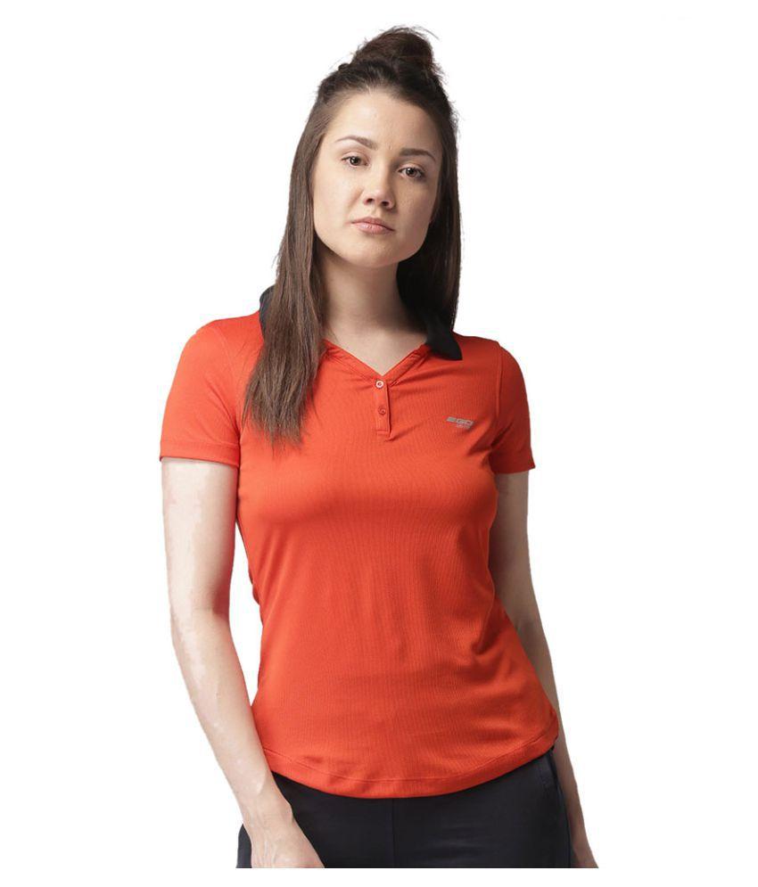 2GO Orange/Bold Black Polo T-shirt
