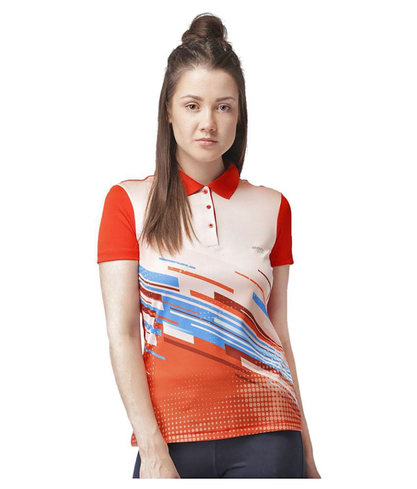 2GO Orange Print Polo T-shirt