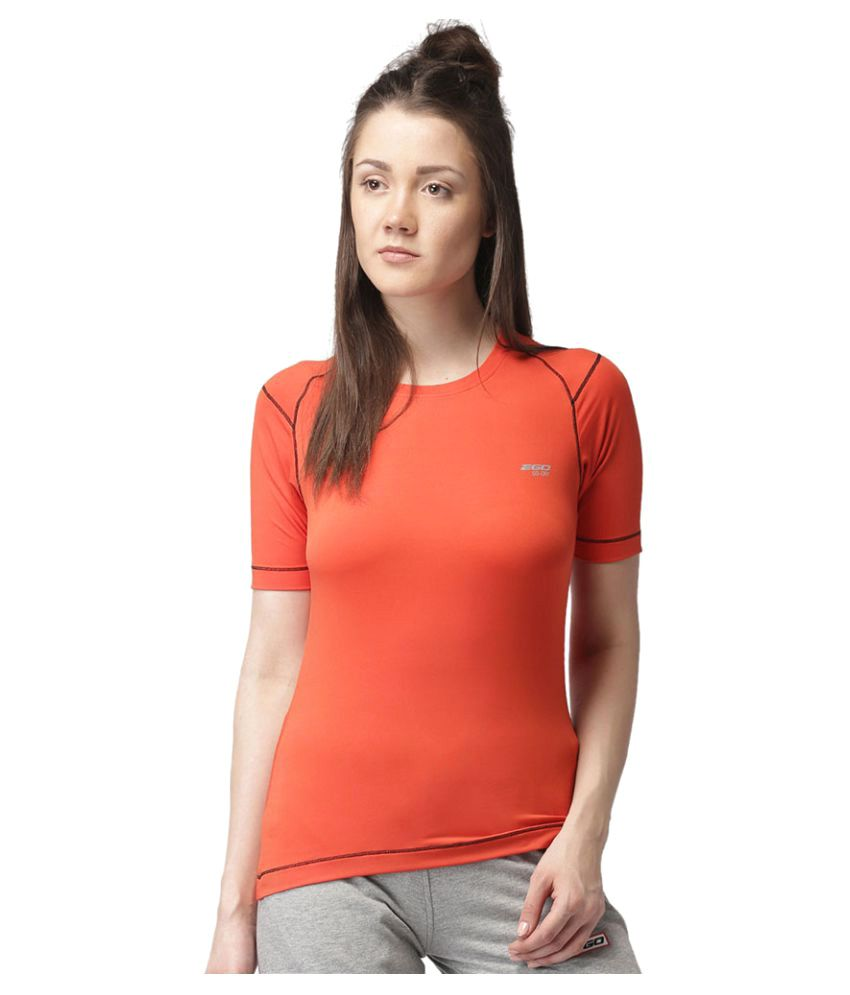 2GO Orange Round Neck Short sleeves T-shirt