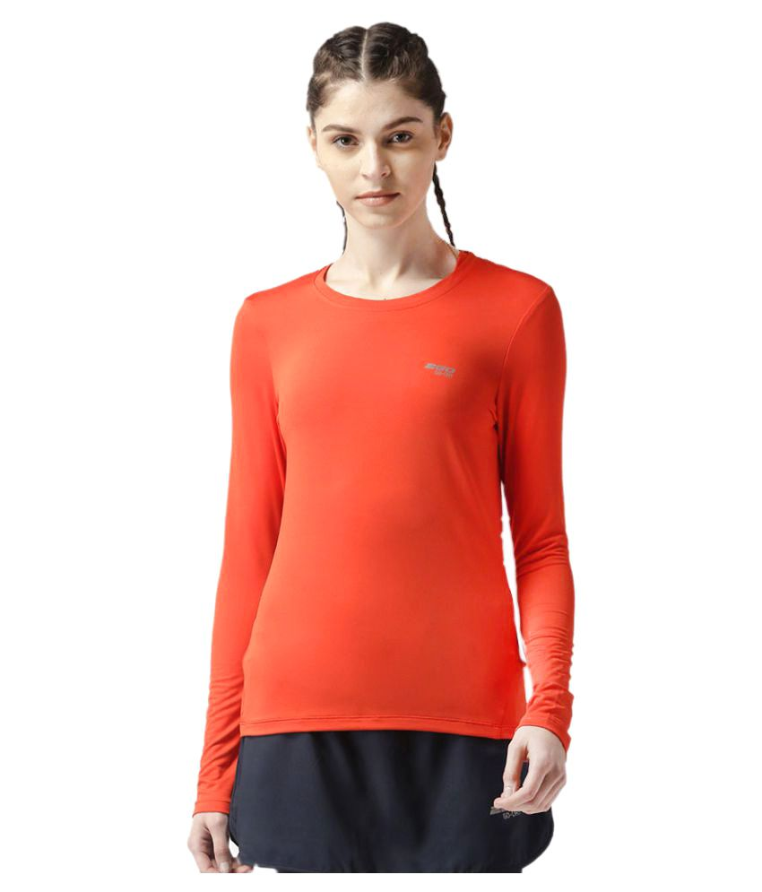 2GO Orange Round neck Full sleeves T-shirt