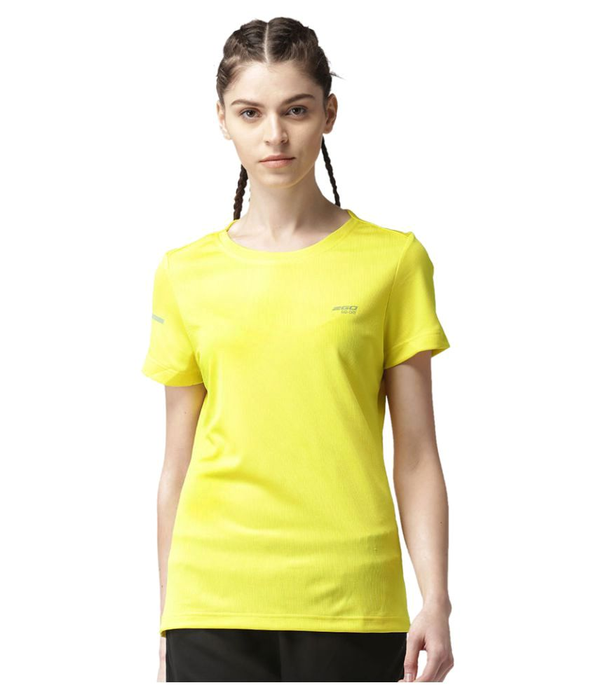2GO Spring yellow Round neck Half sleeves T-shirt