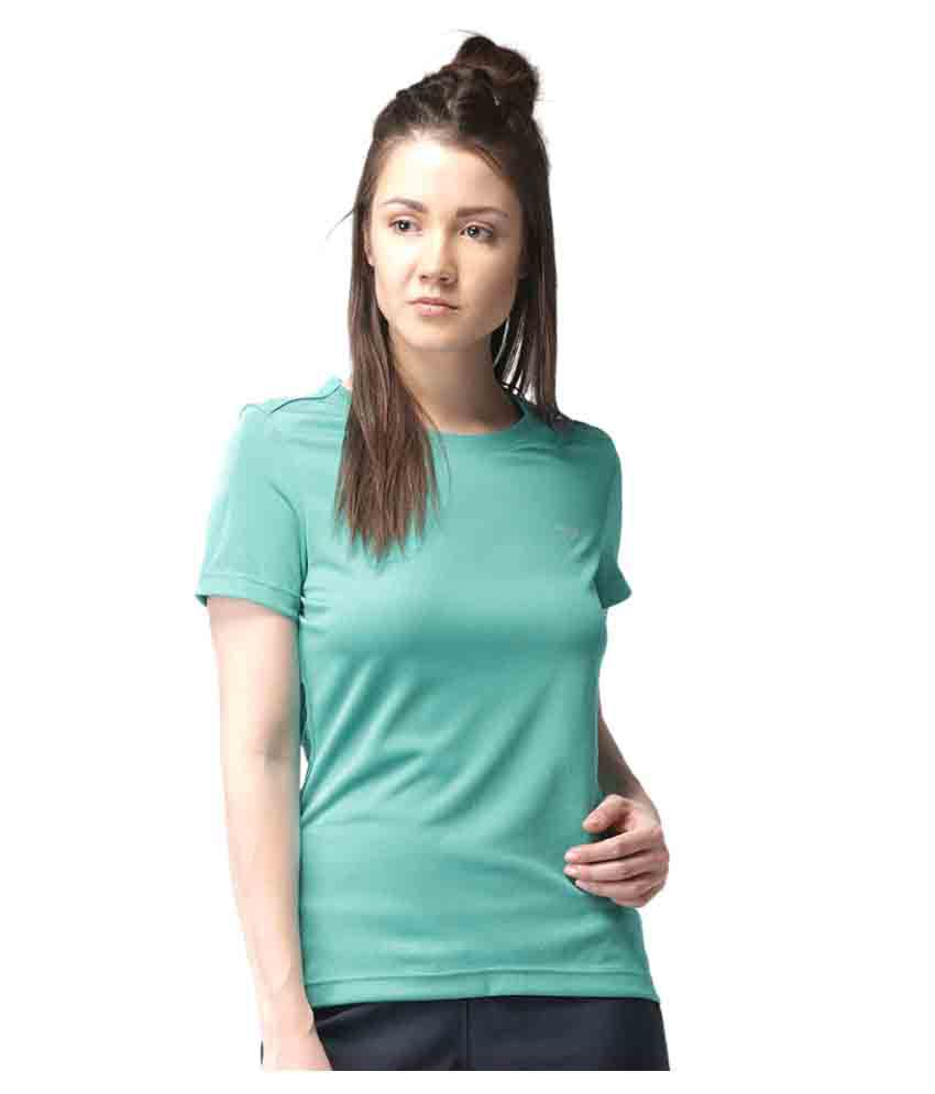 2GO Turquoise Round neck Half sleeves T-shirt