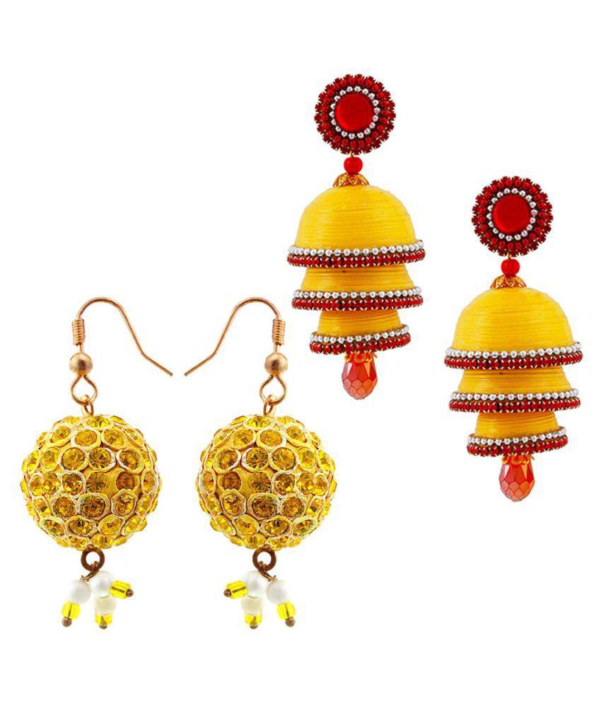 Creative Studio  Set of Two Handmade Multicolor Jhumki