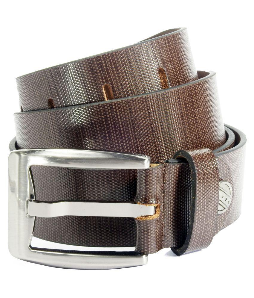 Vogard Brown Leather Formal Belts