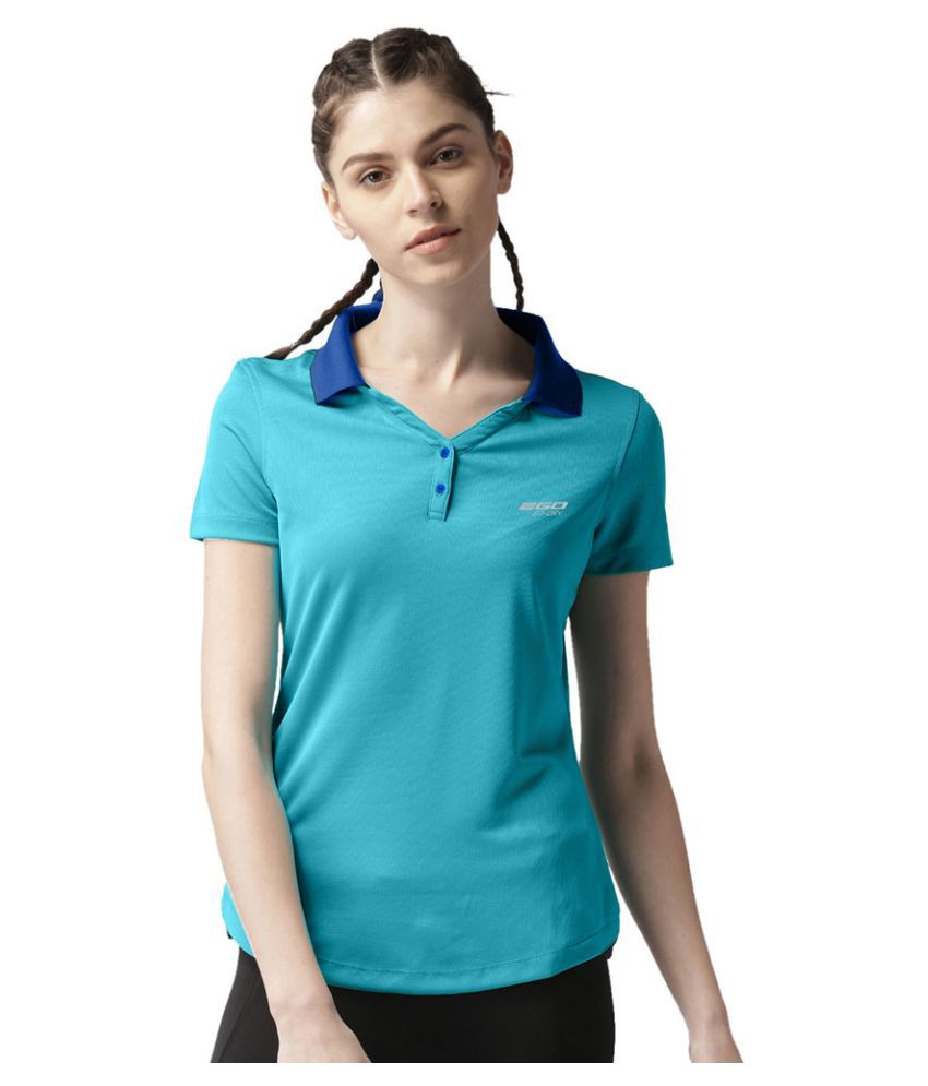 2GO Turquoise/Navy Polo T-shirt