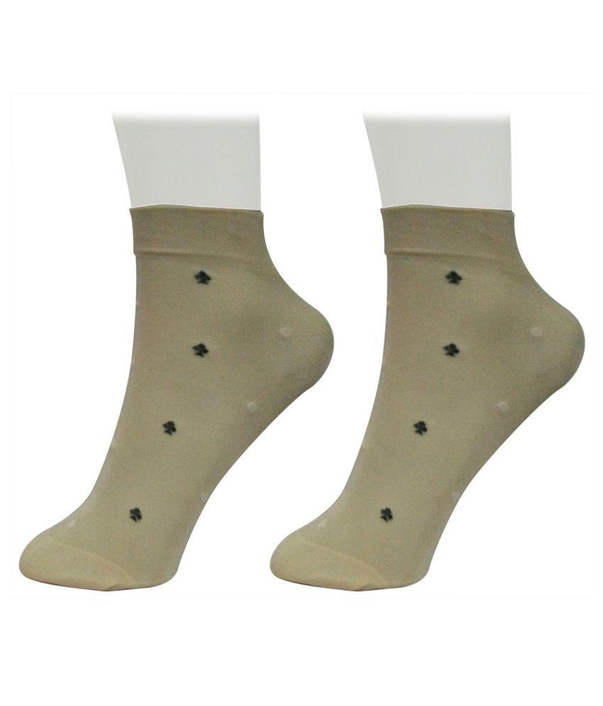 Gold Dust Latest Designer Patterns Ankle Length Low-Cut Socks