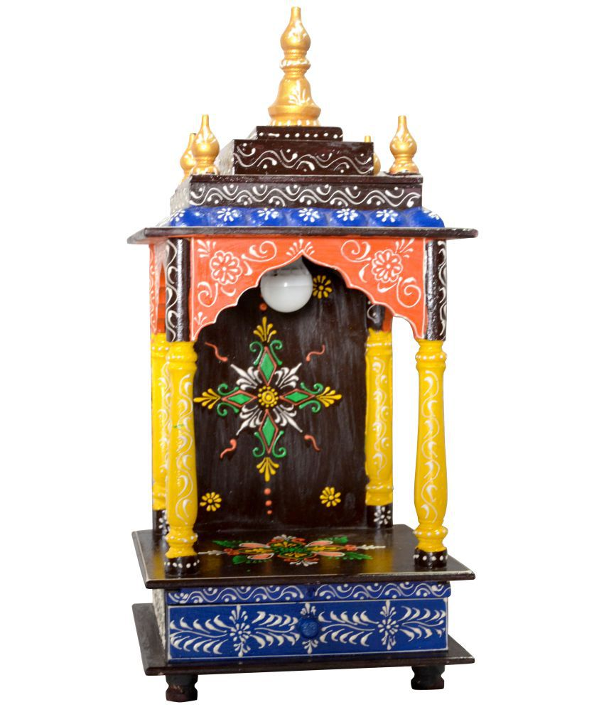 New star home decor brown wood hanging mandir buy new for Star home designs products