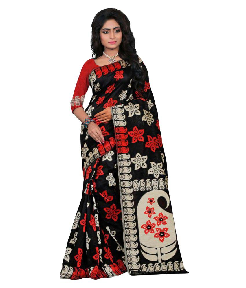 Saloni Designer Black Banarasi Silk Saree