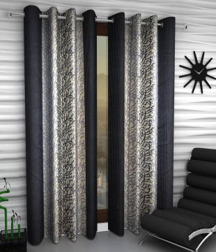 Home Sizzler Set of 2 Long Door Eyelet Curtain & Door Curtains - Buy Door Curtains Online at Best Prices in India ...
