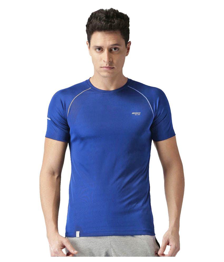 2GO Dare Navy GO Dry Athlete half sleeves T-shirt
