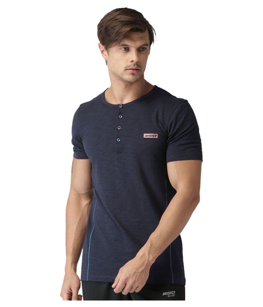 2GO Dare Navy Half sleeves T-shirt