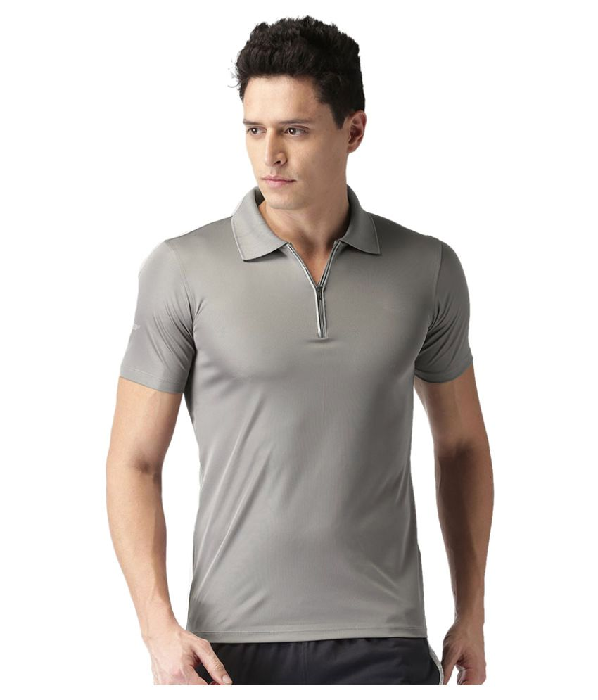 2GO Sweaty Grey GO Dry Polo T-Shirt