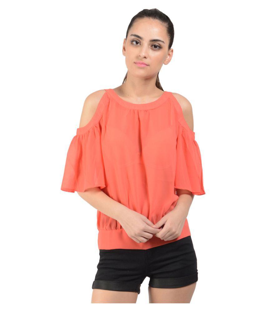 Oranje Clothing Georgette Regular Tops
