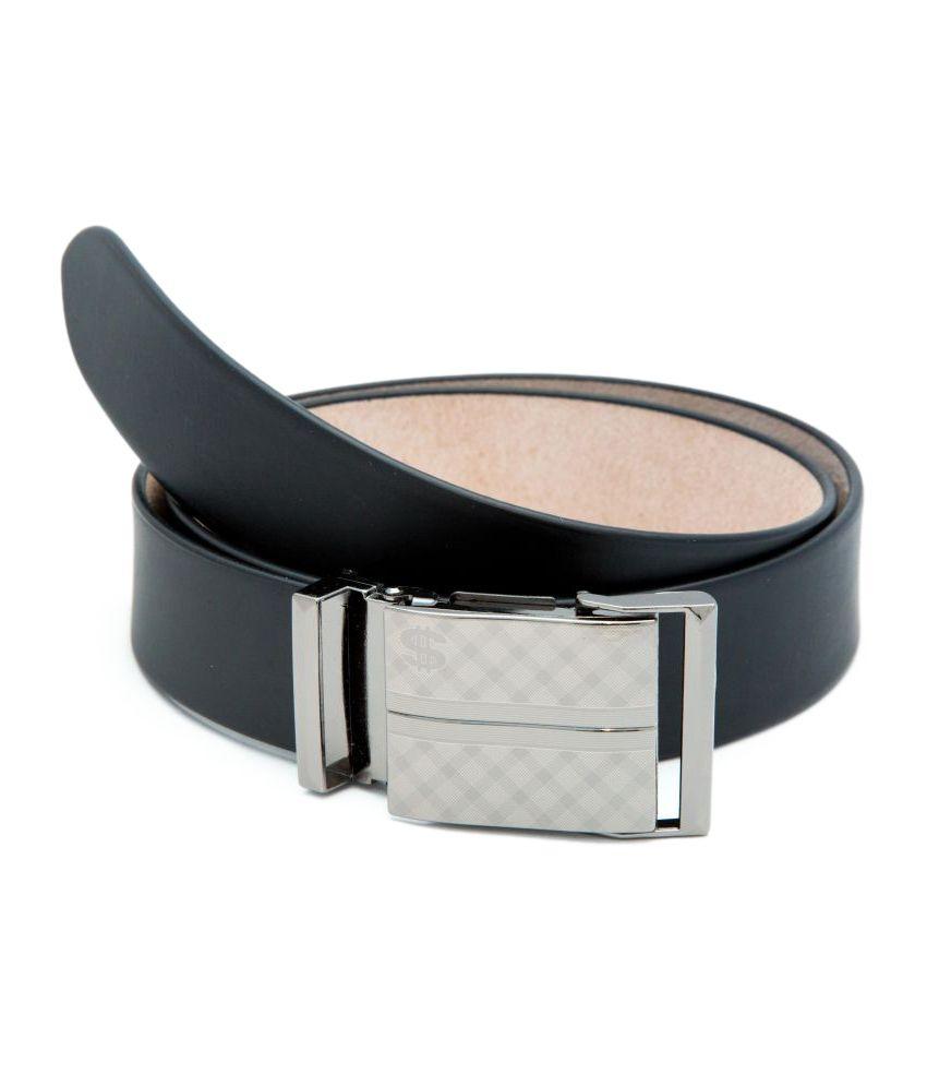 Thewhoop Black Leather Formal Belts