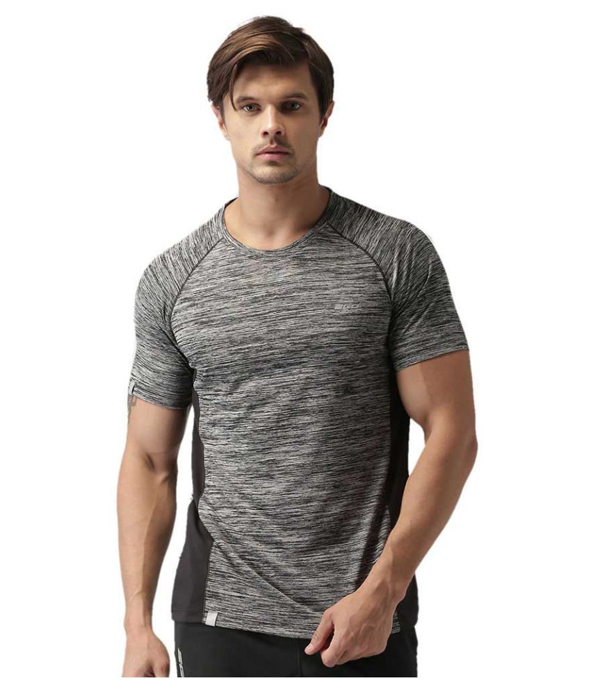 2GO Bold Black GO Dry workout half sleeves T-shirt