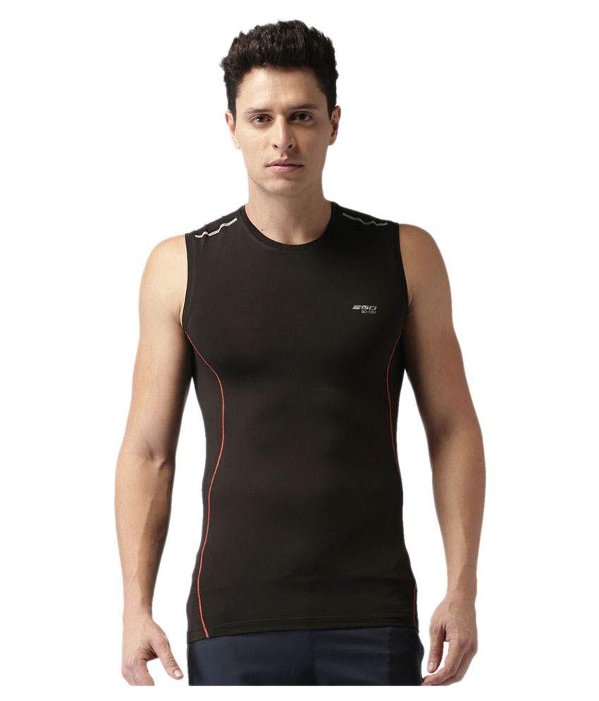 2GO Bold Black Sleeveless Training T-shirt