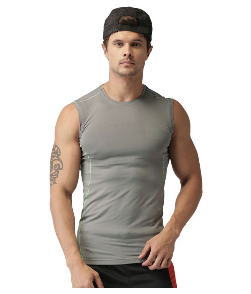 2GO Sweaty Grey Sleeveless Training T-shirt