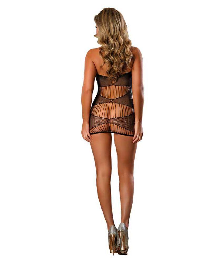 magic silk tube dress bondage set black free size l134: buy magic