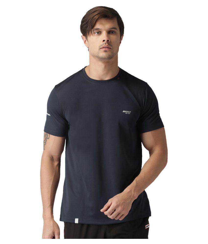 2GO Dare Navy GO Dry Round Neck half sleeves T-Shirt