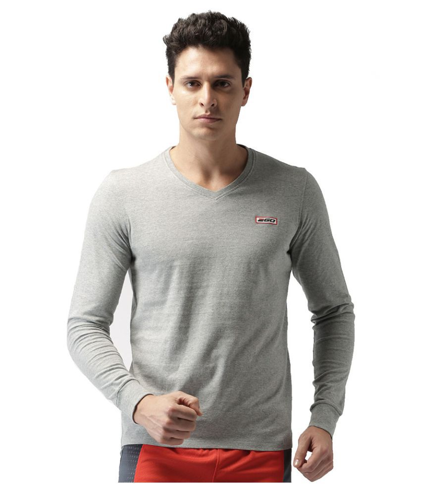 2GO Greymel Full sleeves V-Neck T-shirt