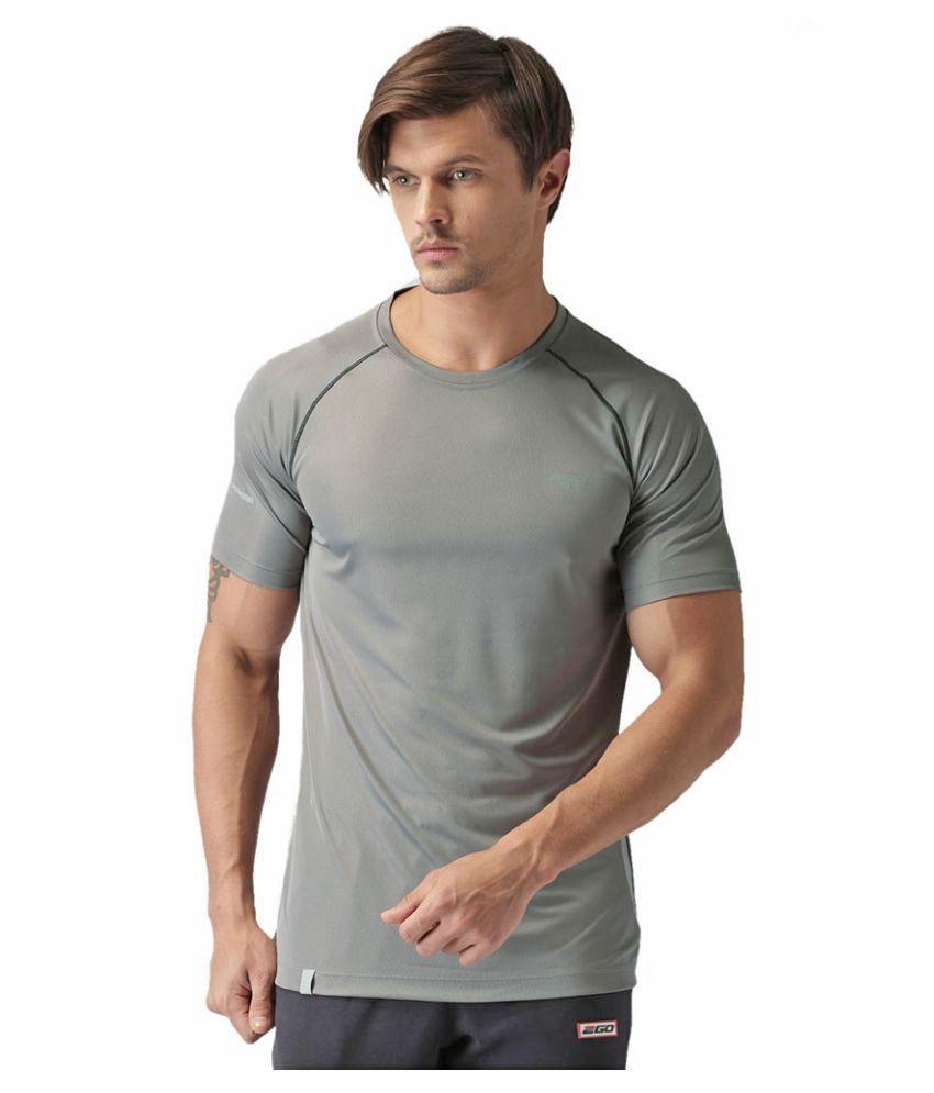 2GO Sweaty Grey GO Dry Athlete half sleeves T-shirt