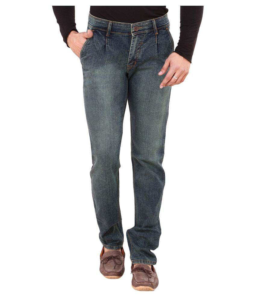 Visach Green Regular Fit Jeans