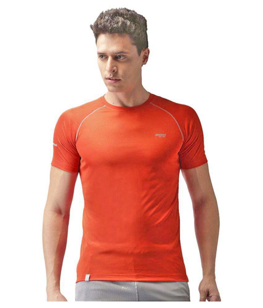 2GO Orange  GO Dry Athlete half sleeves T-shirt