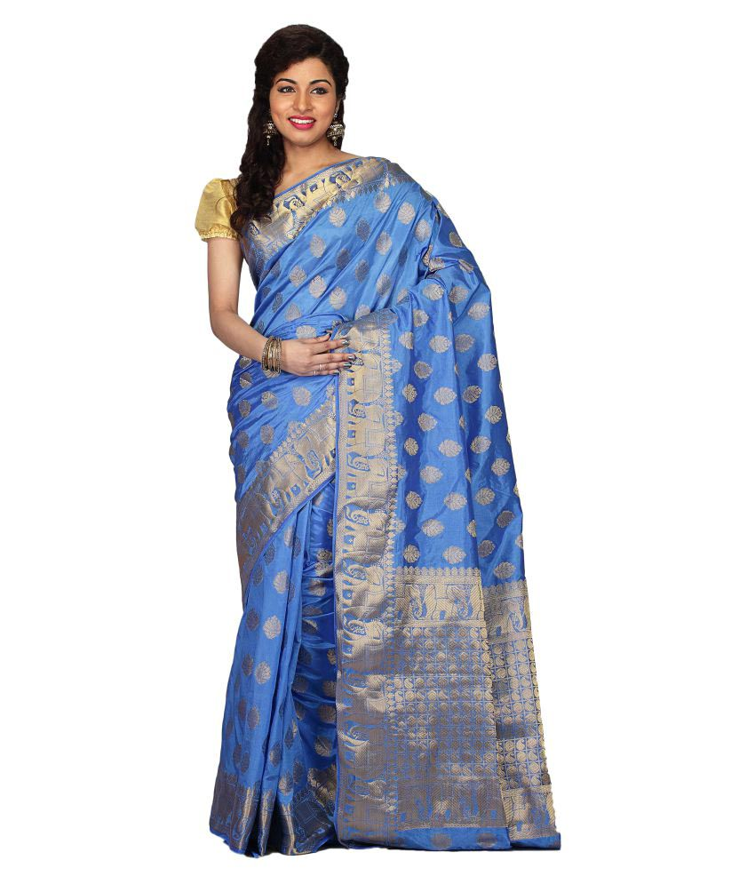 Radcart Blue Art Silk Saree
