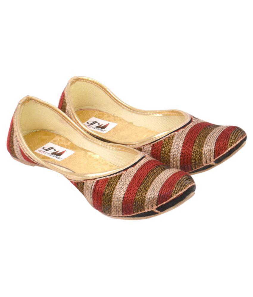 Decot Paradise Multi Color Flat Ethnic Footwear