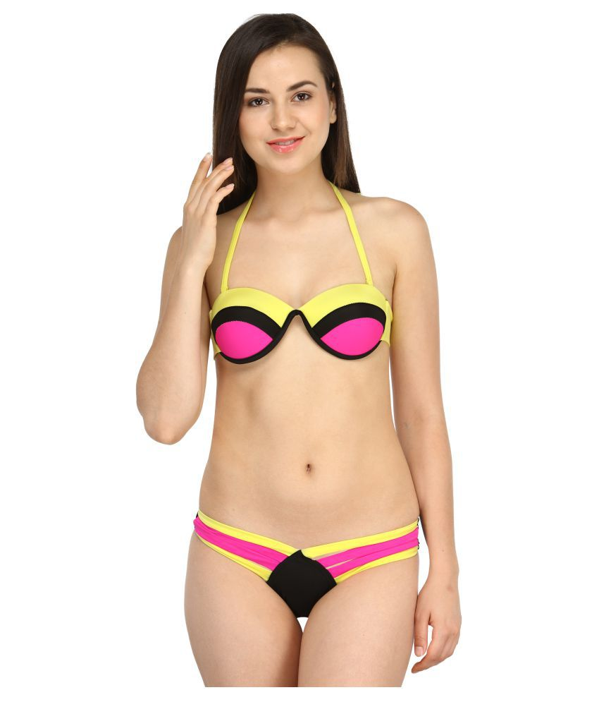 d3a52ee793623 Buy N-Gal Polyester Bikini Online at Best Prices in India - Snapdeal