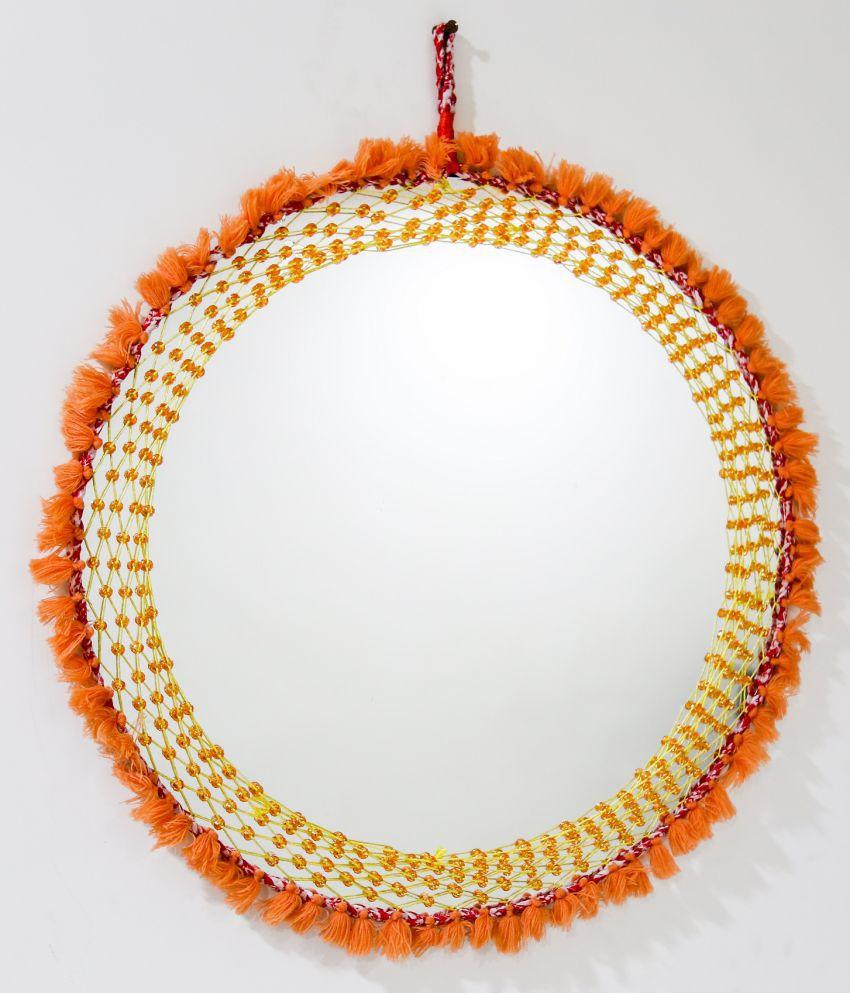 Reme Mirror Round Mirror Wall Mirror Orange - Pack of 1