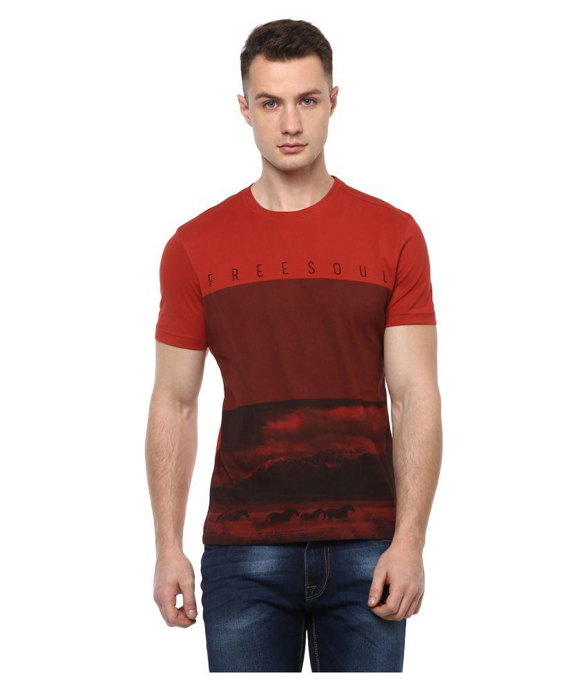 Turtle Red Round T-Shirt
