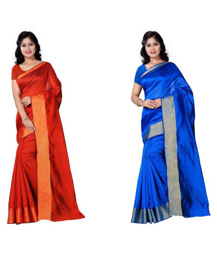 Vimalnath Sarees Multicoloured Cotton Saree Combos