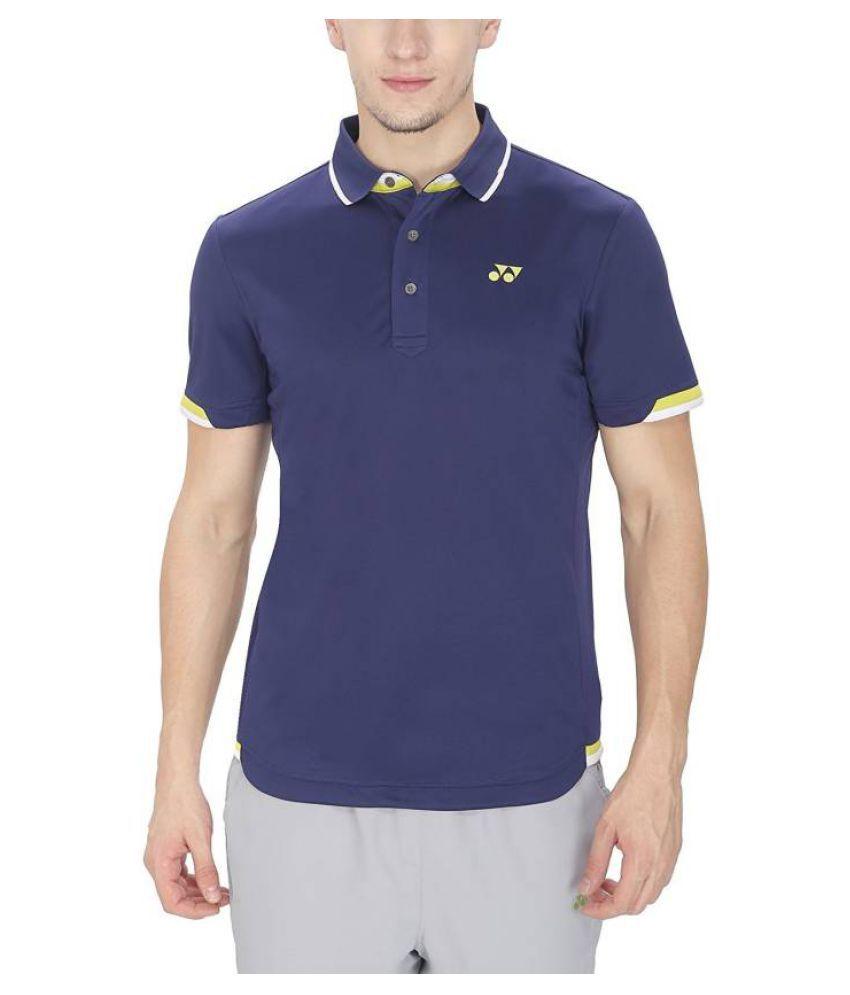 Yonex Blue Polyester Polo T-Shirt