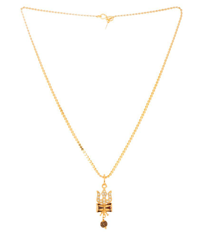 Dare alloy with yellow gold plated cubic zirconia pendants for men aloadofball Image collections