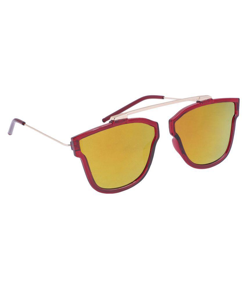 Reyda Turquoise Cat Eye Sunglasses ( Mrn-ylw-cteye-680-01 )