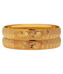 Mansiyaorange Traditional Designer Original Look Golden Bangles For Women