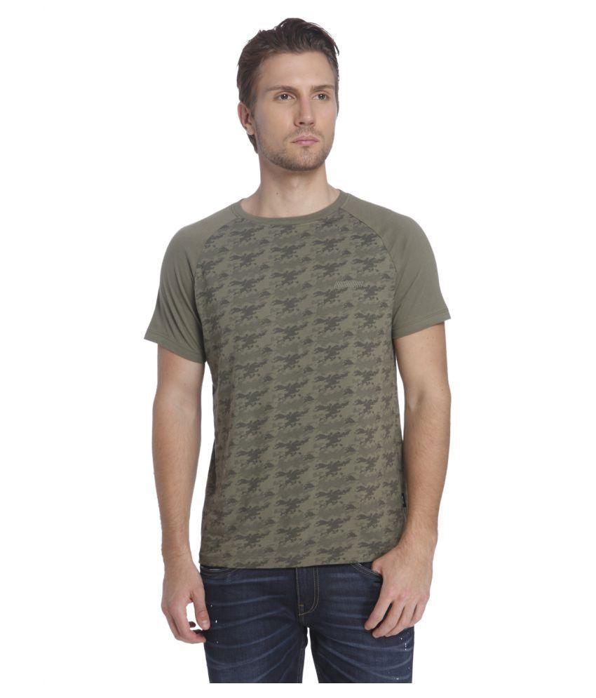 Jack & Jones Green Round T-Shirt
