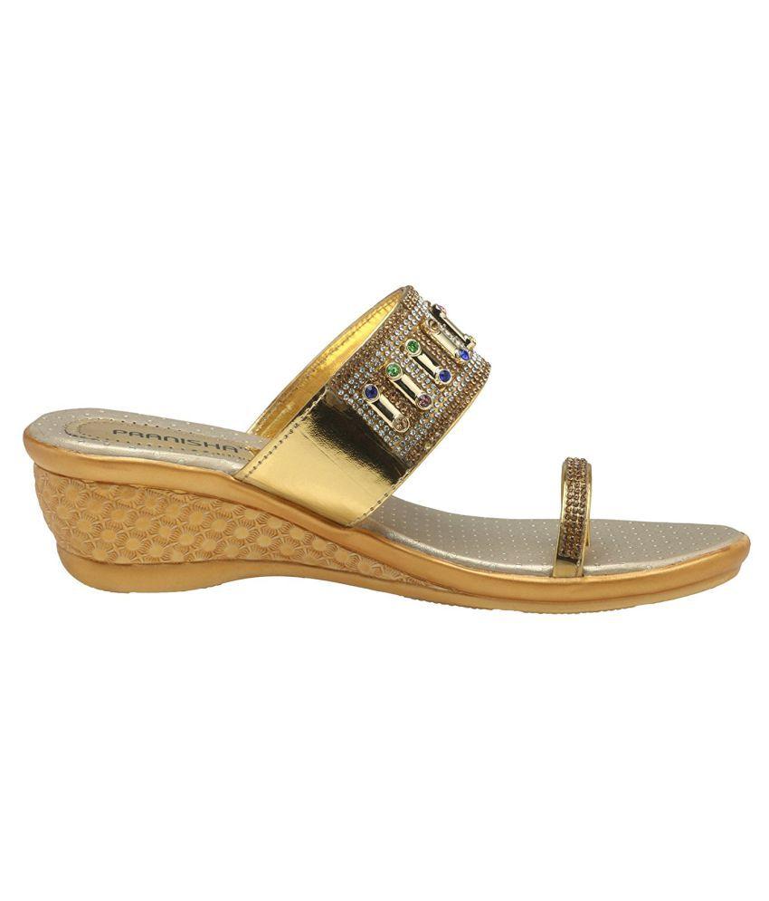 pranisha footwear Beige Wedges Heels sale fashionable cheap pay with visa KlFr1Y