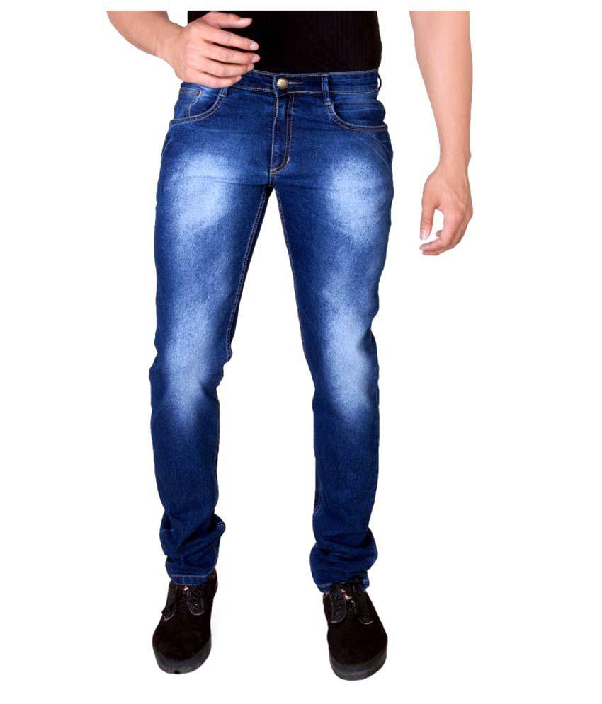 Half Deal Blue Regular Fit Jeans