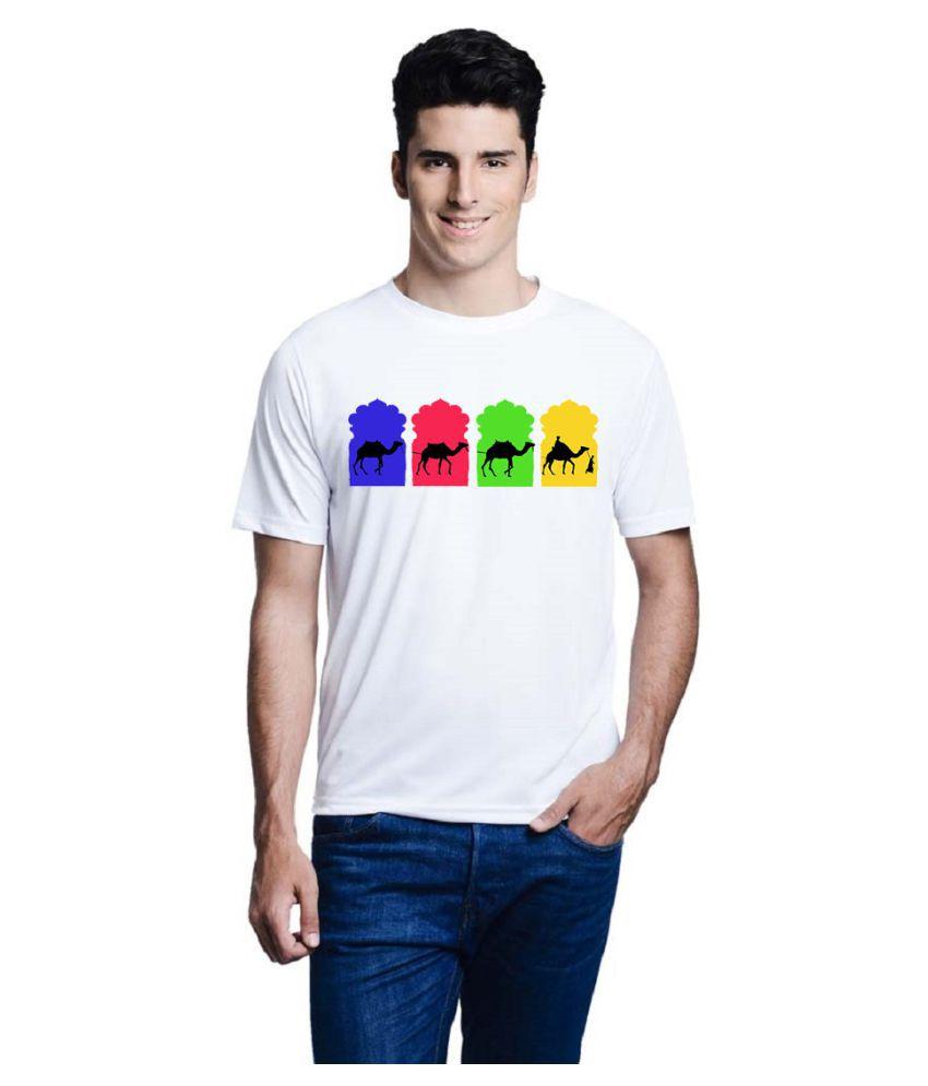 Lime White Round T-Shirt