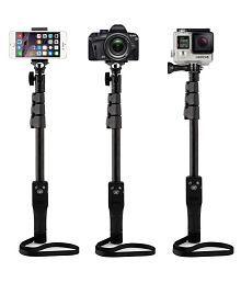 Aoxo Black Bluetooth Selfie Stick - 119 cm