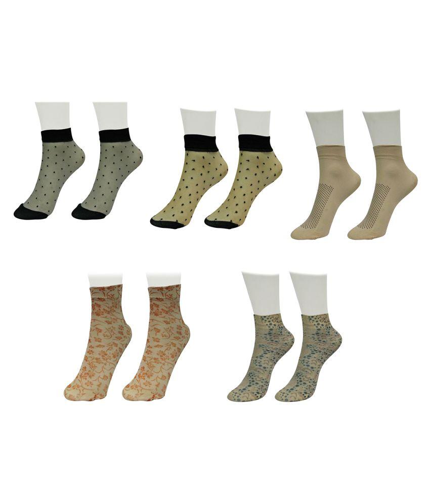 Gold Dust Unique Designer Patterns Socks (5 Pair)